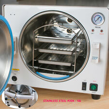 Dental Lab Autoclave Steam Sterilizer Equipment Medical Stainless #304 18L 900W