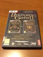 Baldur's Gate II: Shadows of Amn And Expansion Throne Of Bhaal Complete In Box!