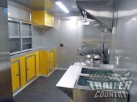 NEW 8.5 X 18 Enclosed Mobile Kitchen Tail Gate Food Vending Concession Trailer