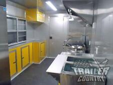 New 85 X 18 Enclosed Mobile Kitchen Tail Gate Food Vending Concession Trailer