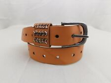 Style & Co Fully Adjustable Beaded Belt Cognac - Tan Size XL #2382