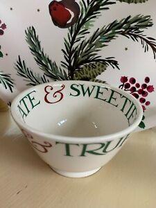 Emma Bridgewater Christmas Toast Small Old Bowl Chocolate & Sweeties New 1st