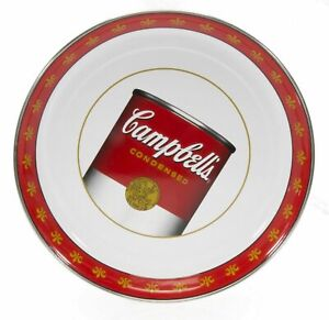 """Golden Rabbit Enamelware Campbell's Soup 15.5""""D Serving Tray NEW"""