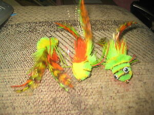 3 Each size 6 Ligas Flies Swim Frog With weed Guard Bass Flies Hair Bug