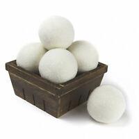 Wool Dryer Balls Natural Fabric Softener 100% Organic, Chemical Free! (6-Pack)