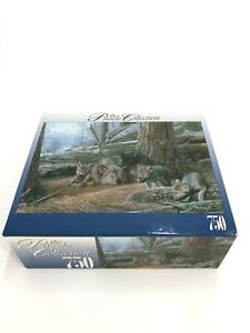 RoseArt A MOTHER'S PATIENCE Wolves Wolf 750 Piece Jigsaw Puzzle