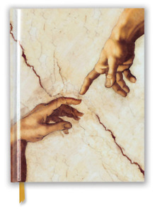 Michelangelo Creation Hands Sketch Book(Hardcover Foil Embosed Sketchbook)