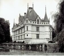 1949 Original Photo view of the Château d'Azay-le-Rideau Castle in France