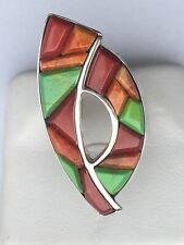 Ring Dtr 925 Jay King Coral w/Turquoise/Coral/Fiesta