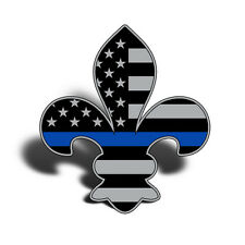 Fleur De Lis USA Flag Blue Line Sticker Decal LA Louisiana Police Care Truck Cup