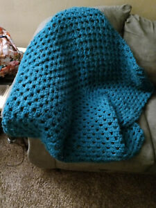 Alpaca wool crochet handmade throw