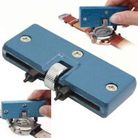 Adjustable Rectangle Watch Back Cover Case Opener Remover Tool Wrench Repair Kit