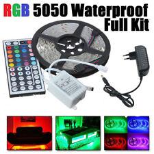 1m-30m RGB LED Streifen Stripe Band Leiste + Controller+ Trafo dimmbar SMD5050