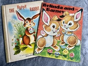 Vintage Kids Bunny Rabbit Books Beautiful Illustrations Bed Time Stories