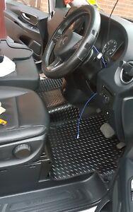 Mercedes Merc Sprinter Van Rubber Floor Mat Mats Black Front 2006> 1 Piece