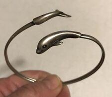 Vintage Sterling Silver BELUGA WHALE Bangle Bracelet by KABANA