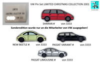 VW VOLKSWAGEN LIMITED CHRISTMAS COLLECTION 2001 Pin Set Konvolut 5 Pins