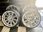 Authentic Vossen Wheels Rims (SET OF 4) on (2) 245/35ZR 20 (2) 255/35ZR 20 Tires