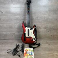 Guitar Hero Controller Nintendo Wii RedOctane Wireless w/ Band Hero Game & Mic