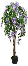 Artificial Wisteria Potted Plant Indoor or Outdoor Garden Large Tree Height 5FT