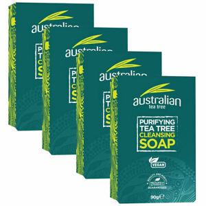 Australian Tea Tree Purifying Tea Tree Cleansing Soap 90g (Pack of 4)