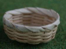 Round Basket . Miniature Dolls House Accessory 1.12 Scale