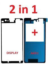 Sony Xperia Z1 Compact D5503 Sticker Kleber Display Akkudeckel Klebepad Rahmen