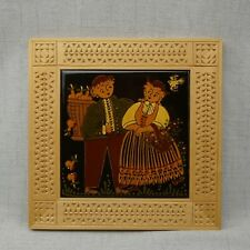 Hans Huggler Wyss Tile With Wood Frame - Wall Art