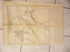 GRAND PLAN D'AUXERRE 1879 FAUBOURG SAINT-AMATRE