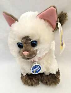 """Build a Bear Promise Pets Siamese Himalayan Ragdoll Cream Kitty Cat 12"""" PURRS!"""