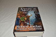 TOWERS OF MIDNIGHT HCDJ 1ST/1ST Robert Jordan Brandon Sanderson FINE Wheel Time!