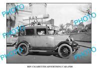 OLD 8x6 PHOTO OF BDV CIGARETTE CAR c1930 SYDNEY NSW