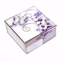 Personalised Lilac Butterfly Trinket Box Gift For 18th/21st/30th/40th/Birthday