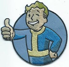 Vault Boy Fallout Embroidered Patch Iron-on Motif Art Good Luck Vault-Tec