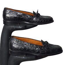 Ralph Lauren-1990s Black Alligator Loafers, Size-6