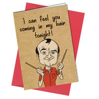 BIRTHDAY CARD or VALENTINES CARD Phil Collins In The Hair /Air Rude / Funny #998