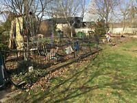 Architectural Salvage Cast Wrought  Iron Garden  Fence Railing 20 Feet 3 Ft Tall