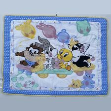 New for Toddlers Looney Tunes 1992 Denim Blues Toddler Blanket Bedspread