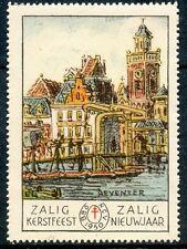 STAMP / TIMBRE PAYS-BAS HOLLANDE / VIGNETTE / ZALIG KERSTFEEST ARCHITECTURE
