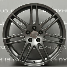 "GENUINE AUDI TT MK2 BLACK EDITION 19"" INCH SATIN GREY SINGLE ALLOY WHEEL X1"