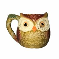 Cracker Barrel Fall Owl Coffee Tea Cup Mug