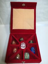 Jet Reiki Wish Box Tumbled Chakra  Stones Crystal Shree Yantra Free Booklet