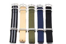 New 20MM Width Nylon Heavy Stainless Steel Watch Strap fits Timex Weekender