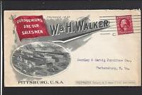 PITTSBURG,PENNSYLVANIA 1911 FULL ADVT. COVER, FACTORY, W.&H. WALKER.