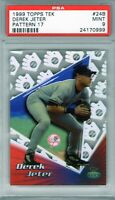 "1999 Topps Tek Pattern 17 #24B ""Derek Jeter"" PSA 9`~ 1/2 {NYY ""The Captain""} Hot"