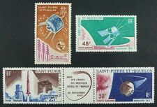 ST Pierre and Miquelon SPM 1965-66 Satellite satellites ITU uit 412-415 MNH