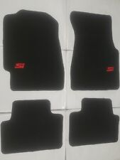 Fit 92-95 Honda Civic 2/3/4 Dr Black Floor Mats Carpet W/Emblem