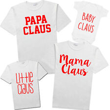 Claus Family TShirt Matching Set Christmas Gift Xmas Shirts Gift Funny Humour