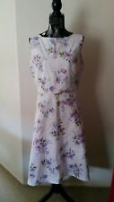 NEW Lavender Floral fit and flare dress, size 12-14