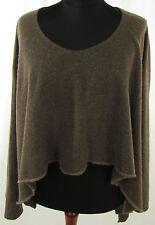 Taillenlange Damen-Pullover & -Strickware im Ponchos-Stil ohne Muster